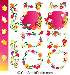 Tulip blossom design elements