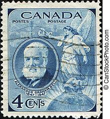 Alexander Graham Bell - CANADA - CIRCA 1947 : A stamp...