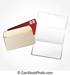Open envelope and empty letter.