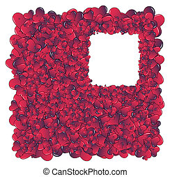 Hearts invasion frame - Valentine card Ideal hearts frame...