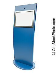 Touch screen terminal - Blue touch screen terminal.