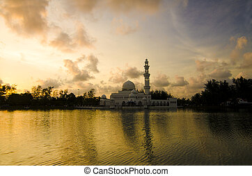 photo of floating mosque in malaysia
