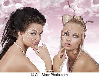 girl in creative beauty portrait