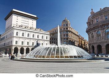 De Ferrari square, Genova, Italy - De Ferrari square with...