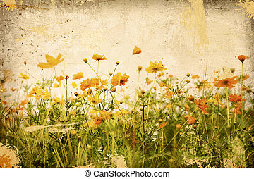 old flower paper textures - perfect background