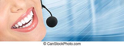 appeler, centre, client, soutien, helpdesk