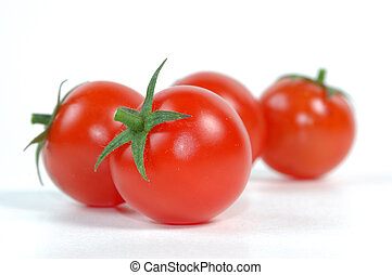 Tomato on white background