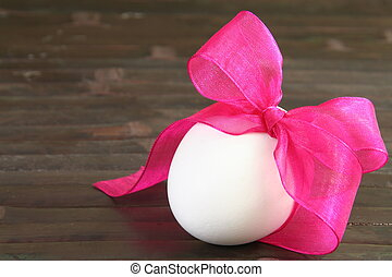 Single Easter Egg with Festive Bow