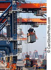 Harbor - Large harbor cranes