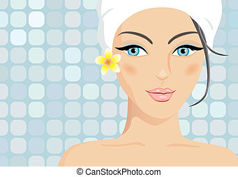 Vector spa girl