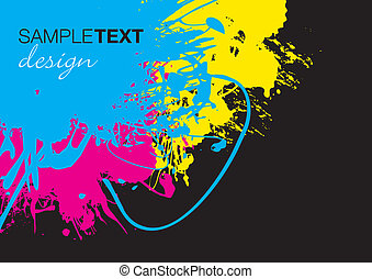 splash background - cmyk splash background