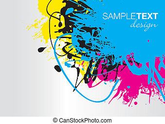 splash background - cmyk splash background