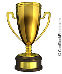 Gold Cup, Award. - Gold Cup, Award - 3d rendered image of a...