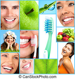Happy people - Smiling people with healthy teeth Close up