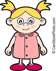 Blonde girl - Vector drawing of a blonde girl