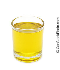 olive oil - glass with olive oil