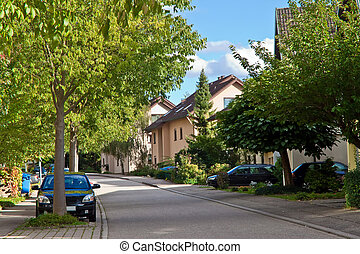Residential in a small town in Germany. Europe.