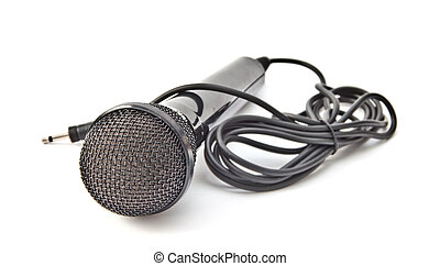 microphone isolated on the white background