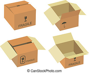 Shipping box vector, Vector illustration