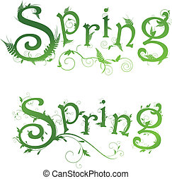 Spring floral decorated text samples