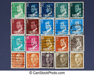 Postage stamps of Spain.