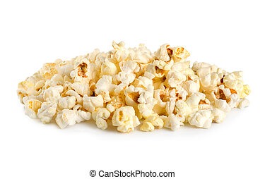 Popcorn - Sweet popcorn isolated on a white background