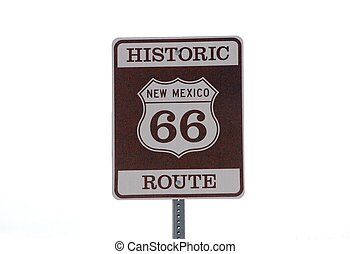 Sign historic route 66