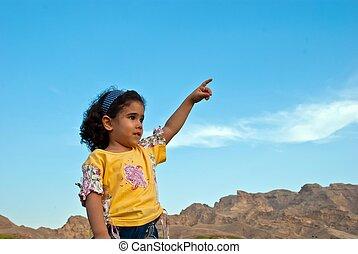 árabe, niña