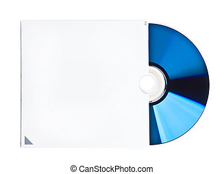 Blank CD and case - Isolated image of CD or DVD in a white...