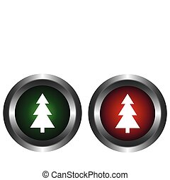Two buttons with tree