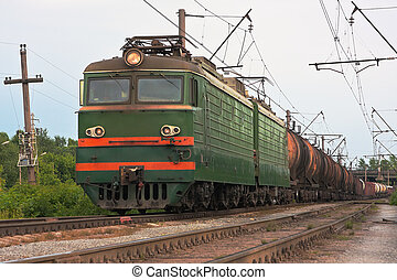Cargo transportation in tanks by rail