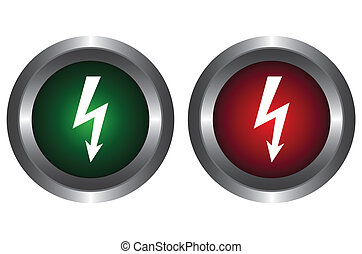 Two buttons with the high voltage