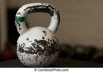 White Kettlebell in Gym