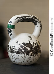 White Kettlebell in Gym
