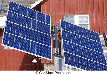 Solar Panels at Dodge Nature Center - A solar panel...