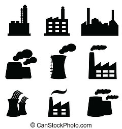 Factories and power plants - Factory, power plants and...