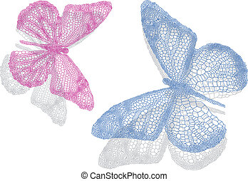 butterflies with shadow