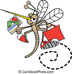 Mosquito Shopping With Credit Cards