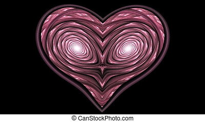 Pulse of love. - HD abstract fractal art transformation...