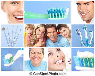 dental care - teeth whitening, tooth brushing, dental care...