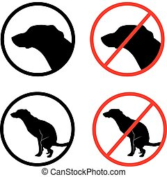 dog icon - signs of dog-walking and the ban