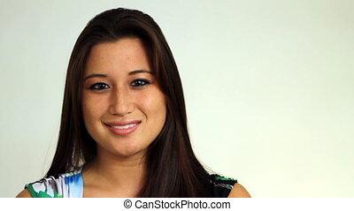 Asian American Girl Smiling
