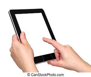 Toucher, écran, tablette