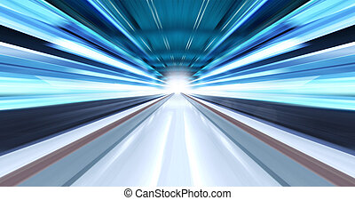 Greased light in tunnel - Greased light on high-speed...