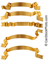 Gold ribbon - Elegance gold ribbon banner collection