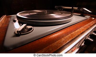 vinyl LP - Retro phone for listening to vinyl records