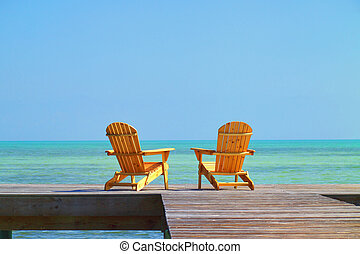 Two lonely Chairs - 1 - Two Chairs waiting to be occupied by...