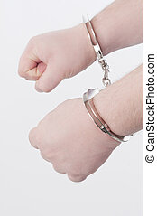 Guilty - Handcuffed adult man hands