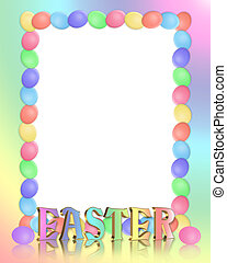 Easter border eggs