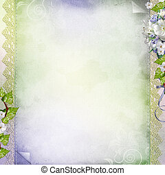 Beautiful anniversary, wedding, holiday background with white flowers